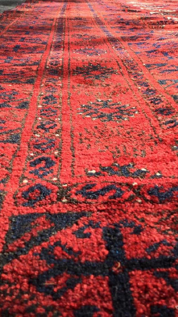 Ruby Toned Oriental Fringed Carpet - 6