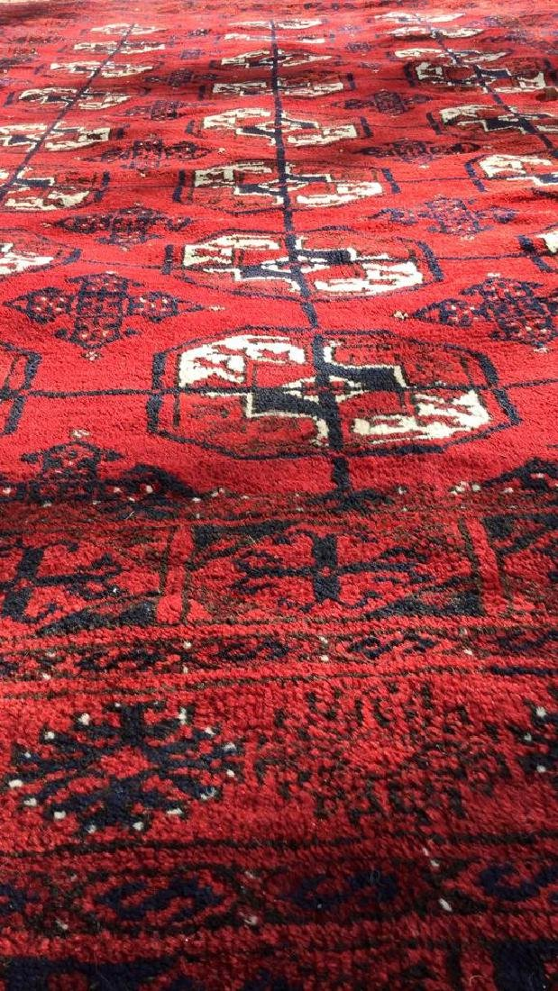 Ruby Toned Oriental Fringed Carpet - 7