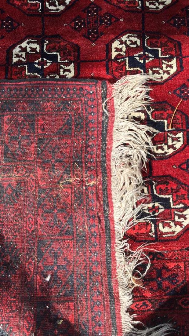 Ruby Toned Oriental Fringed Carpet - 9