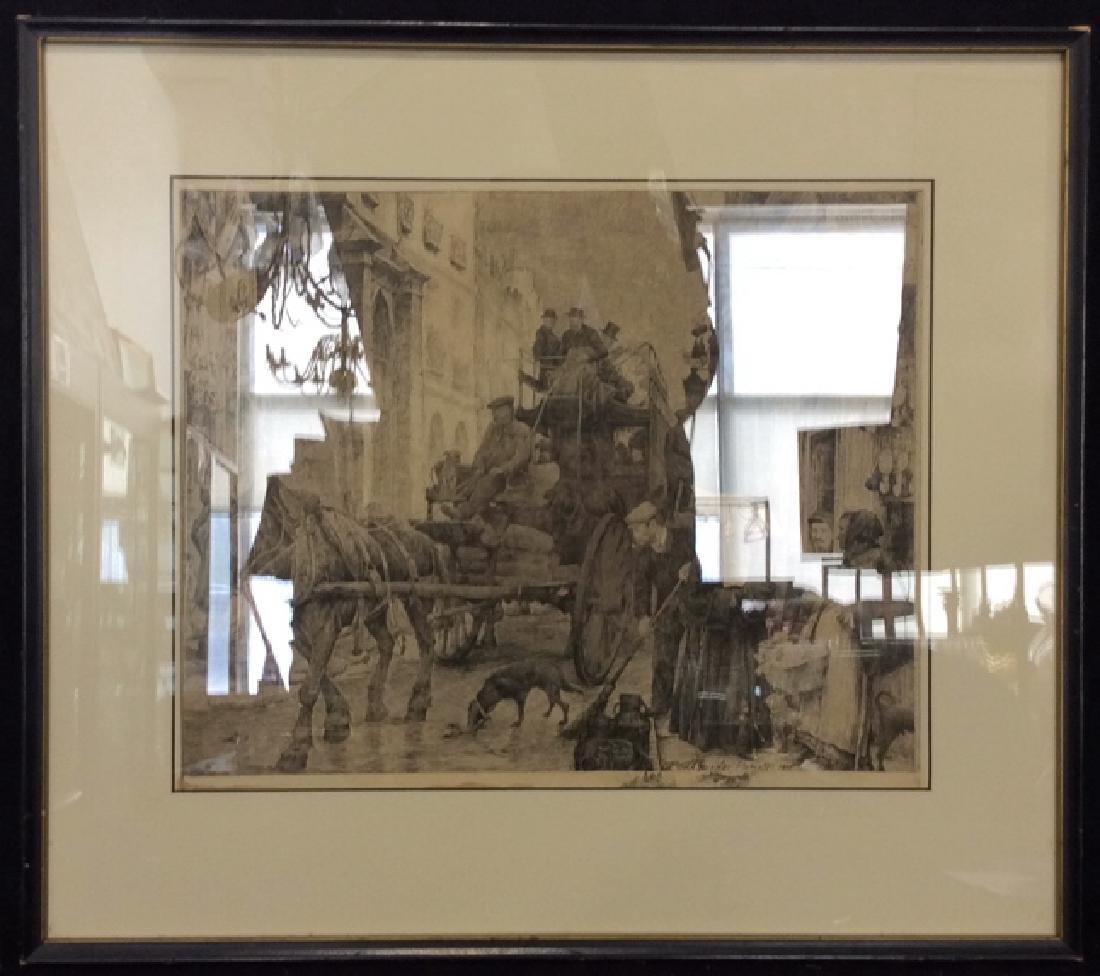 Framed Art Print Geissler Etching - 2