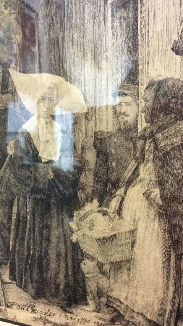 Framed Art Print Geissler Etching - 5