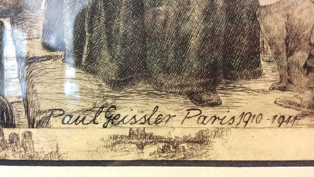 Framed Art Print Geissler Etching - 7