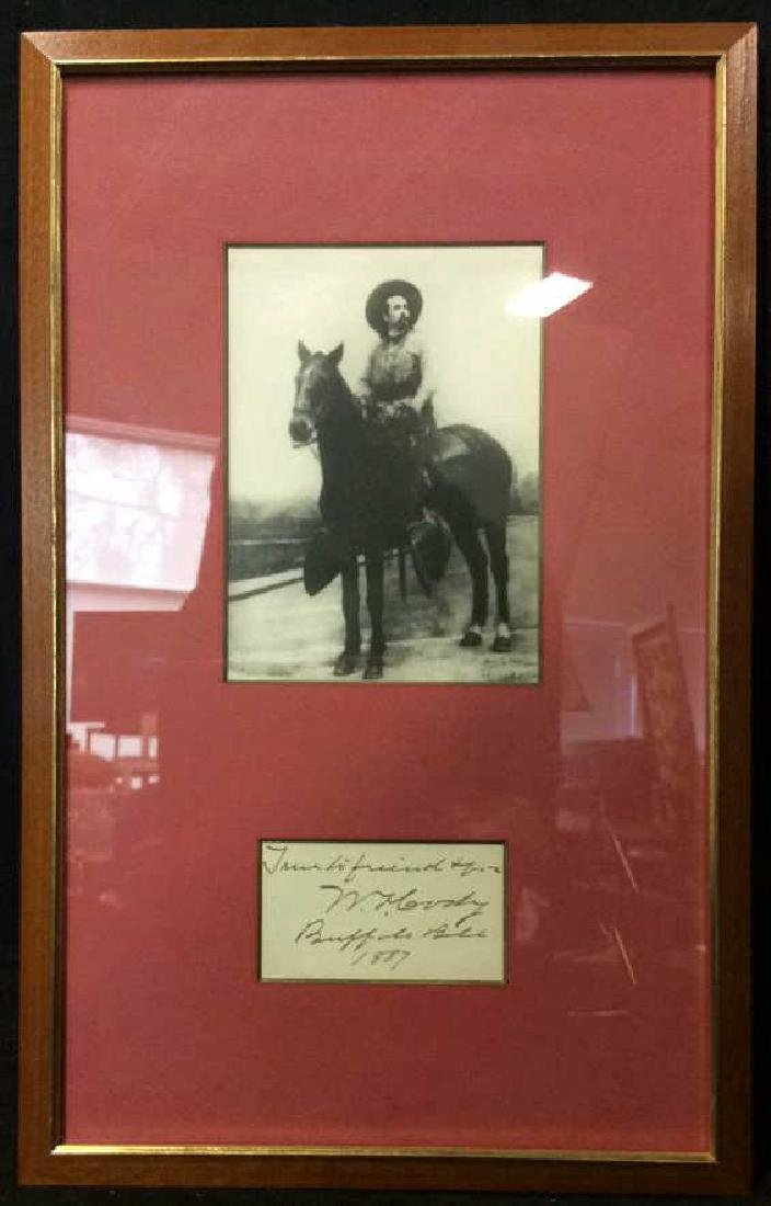 Autographed Photograph of Buffalo Bill Dated 1887