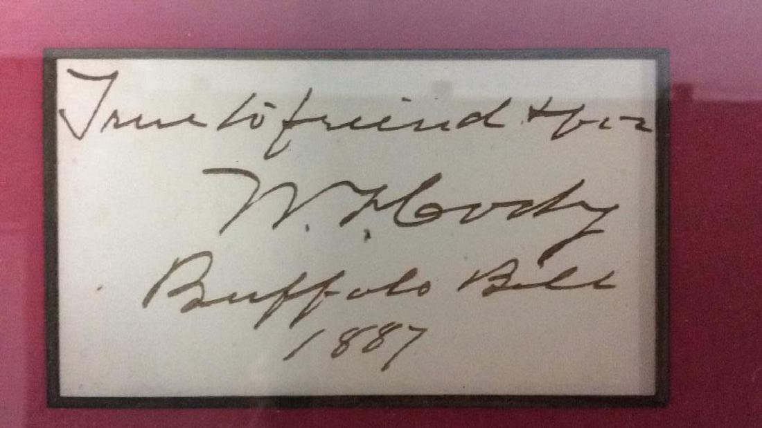 Autographed Photograph of Buffalo Bill Dated 1887 - 3