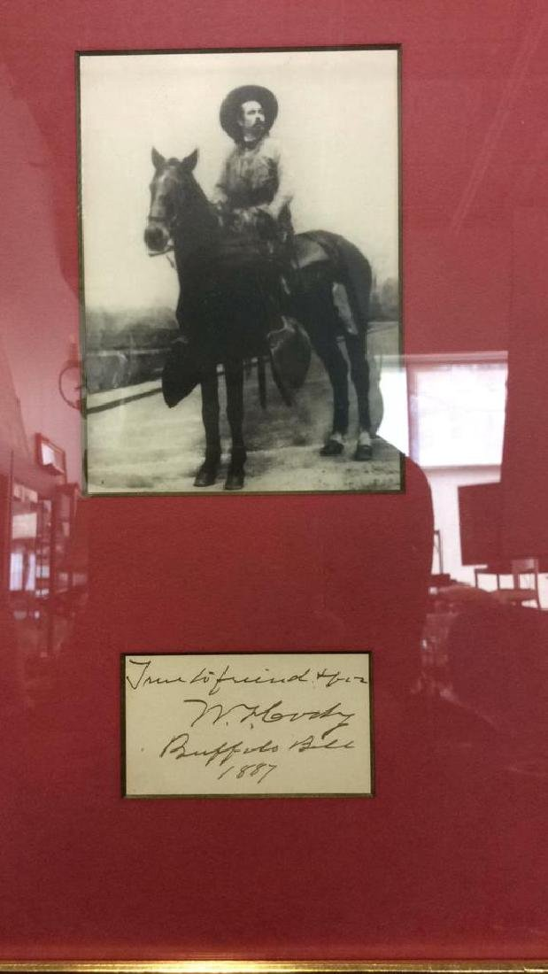 Autographed Photograph of Buffalo Bill Dated 1887 - 6