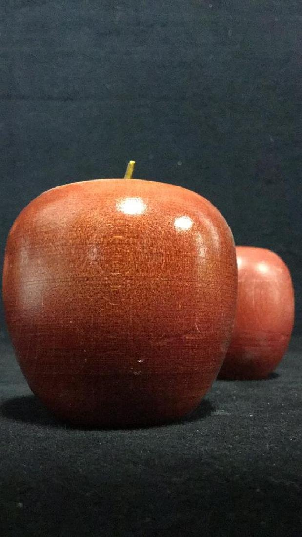 Lot 12 Wooden Apples & Stand Tabletop Accessory - 6