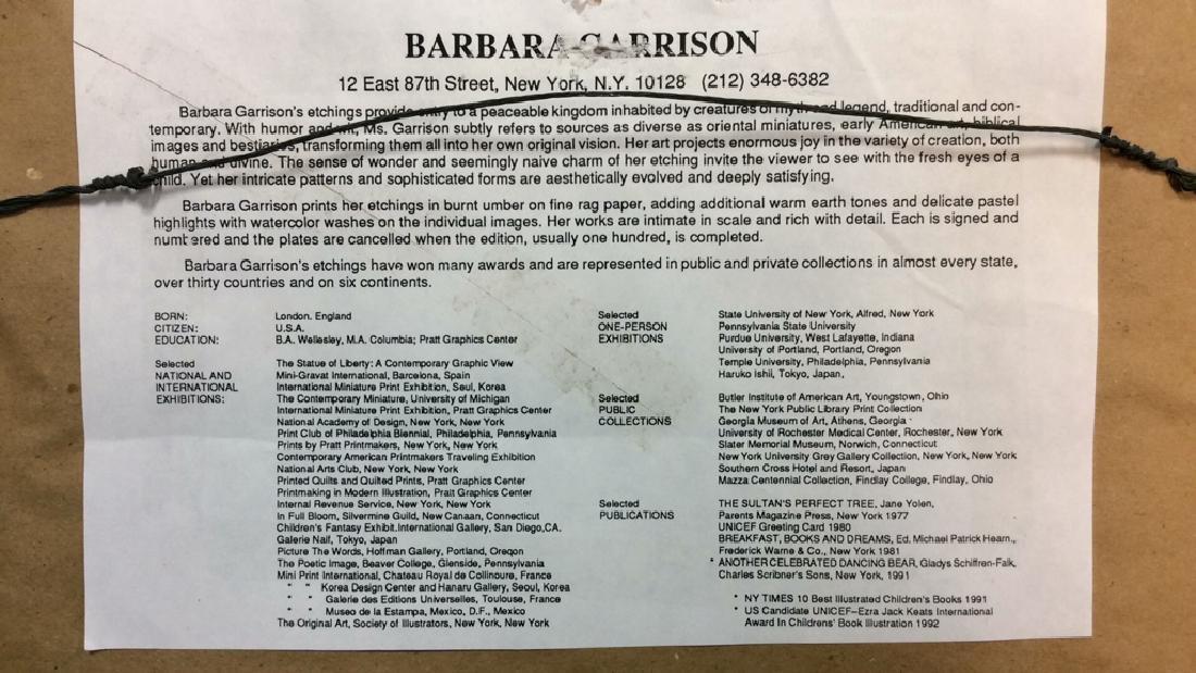 Art Print of Barbara Garrison Etching - 7
