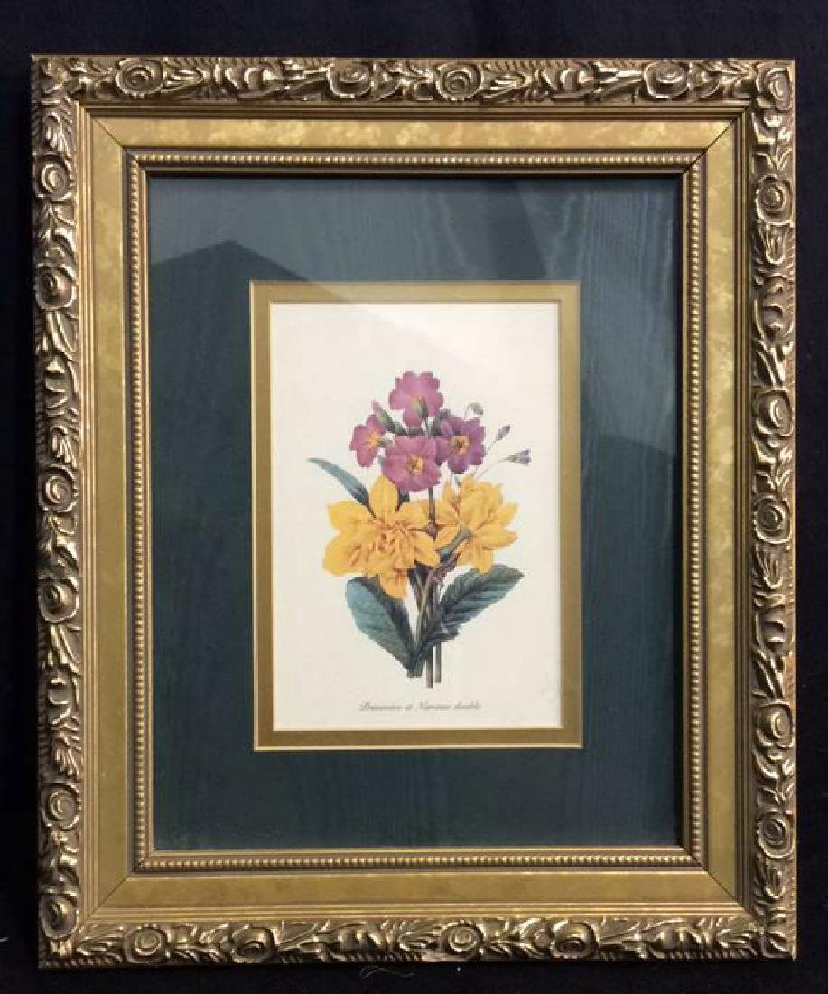 Framed Decorative Floral Art Print