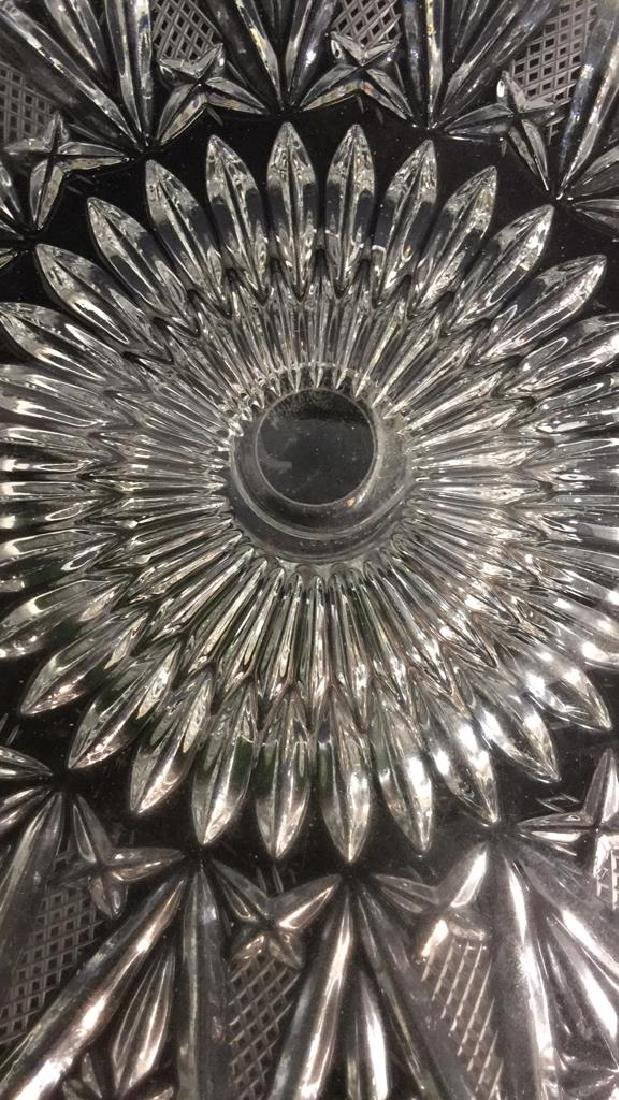 Glass Cut  Footed Cake Tray - 10