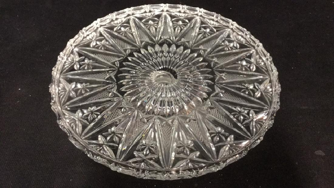 Glass Cut  Footed Cake Tray - 4