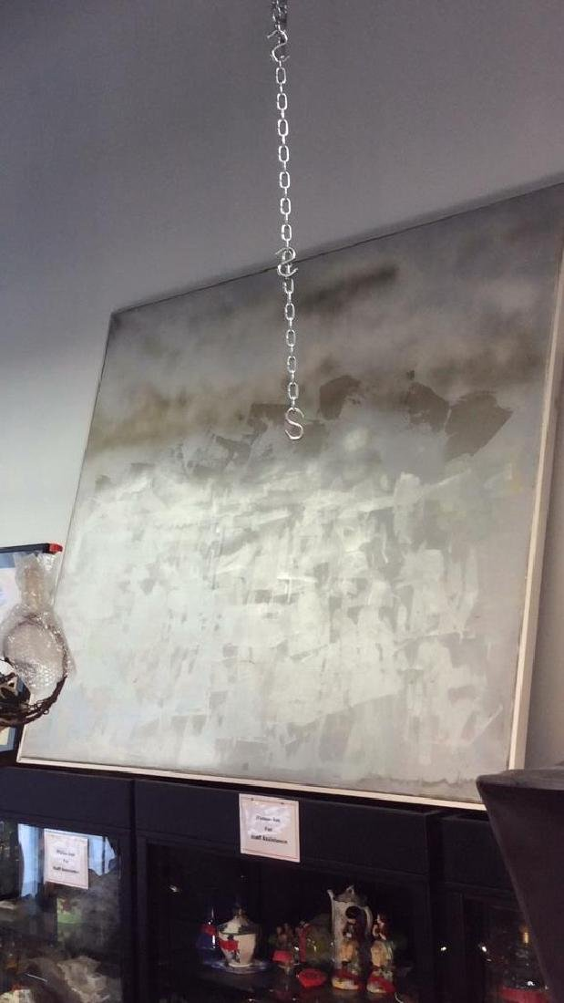 Thomas R lunde NYC Artist Silver Painting Canvas