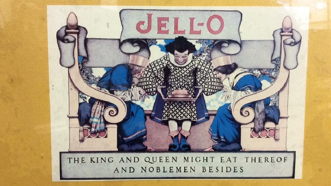 JELL-O VIntage Framed  Advertisement