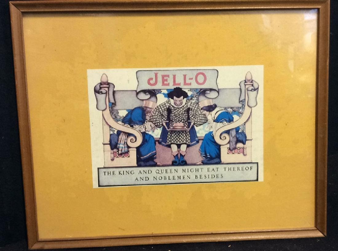 JELL-O VIntage Framed  Advertisement - 2