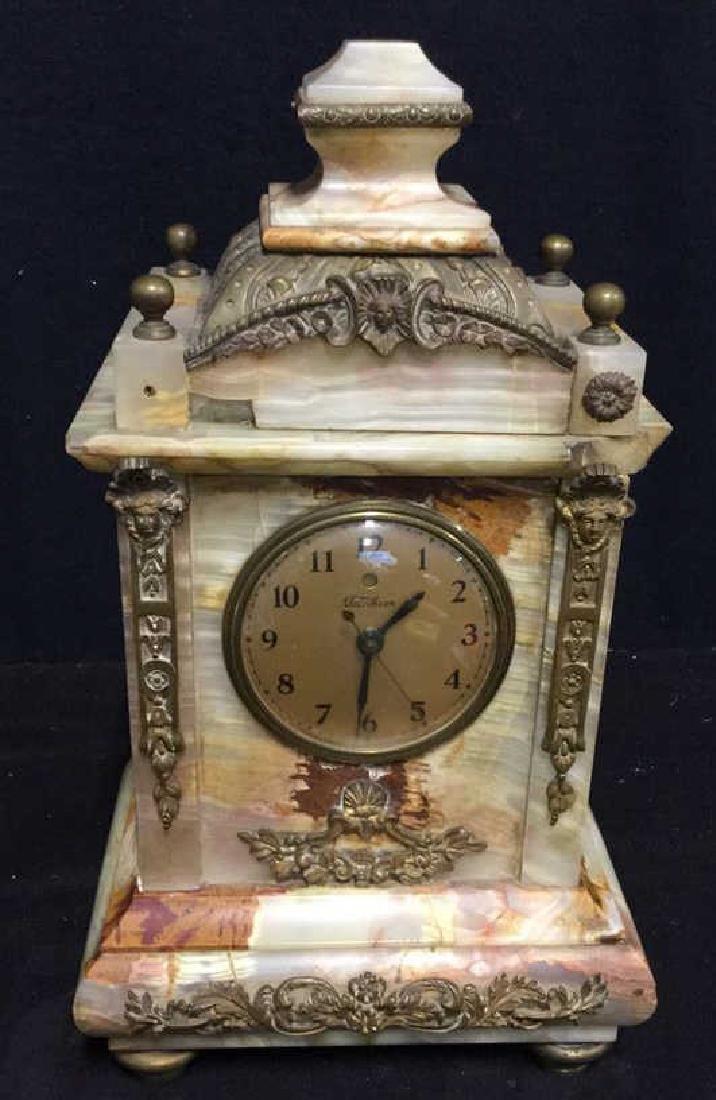 Vintage Telecron Marble Mantel Clock