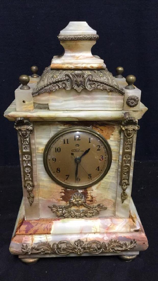 Vintage Telecron Marble Mantel Clock - 2