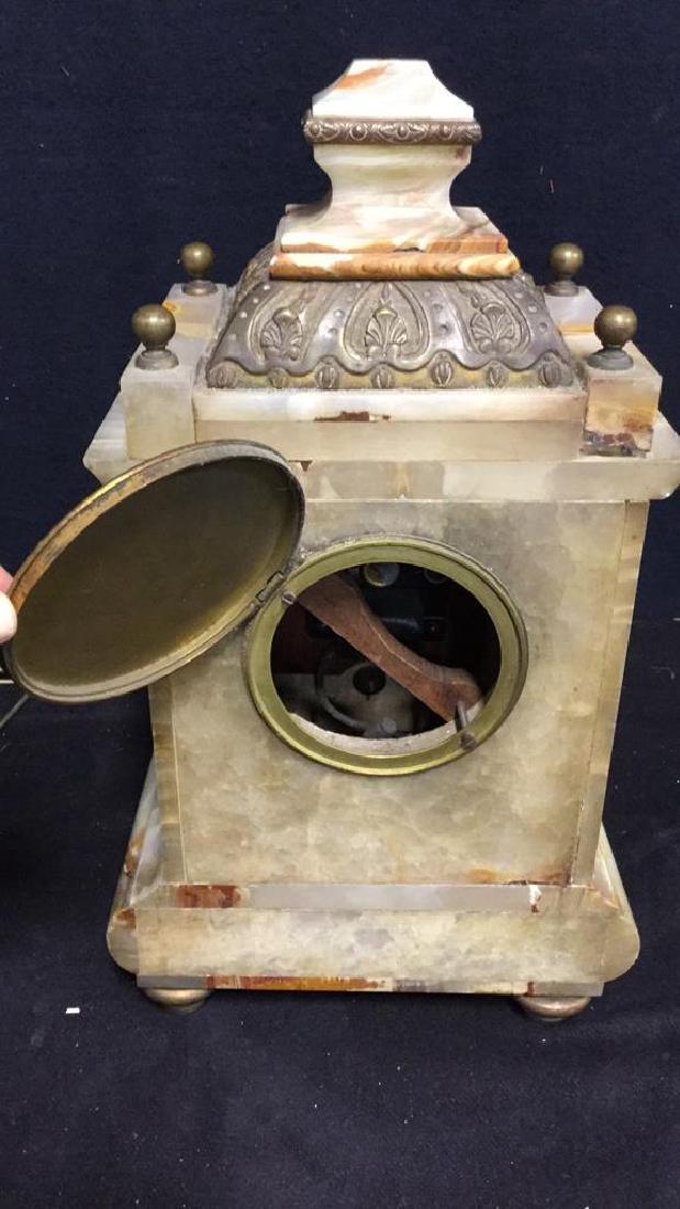 Vintage Telecron Marble Mantel Clock - 6