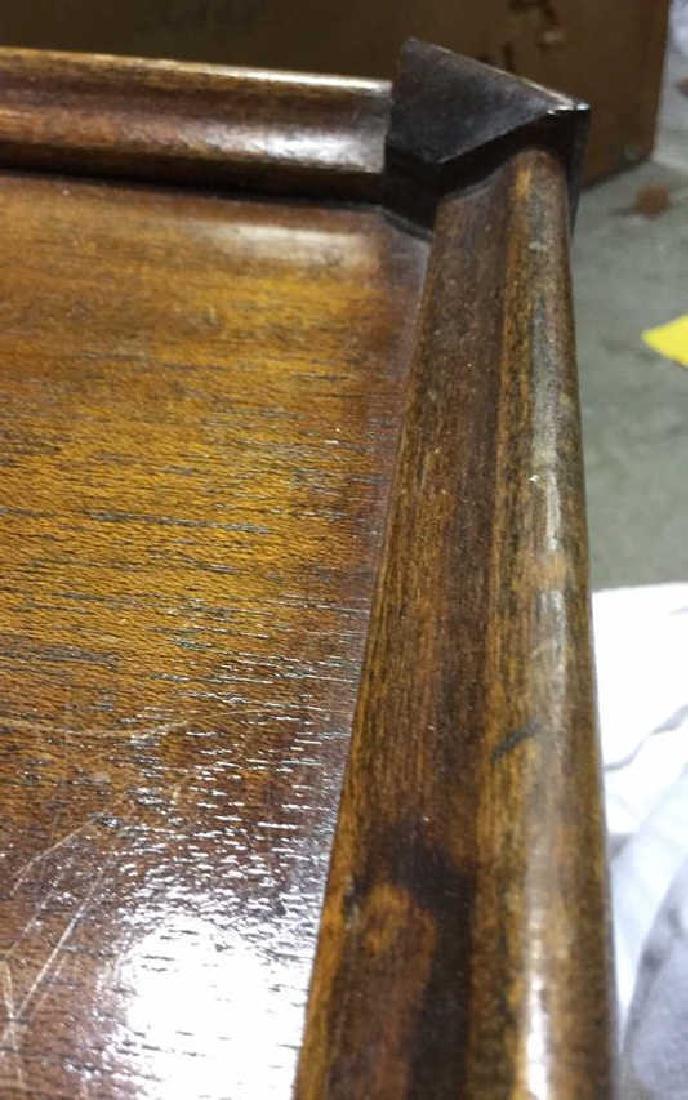 Vintage Wood Walnut Coffee Table - 10