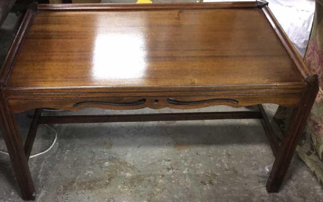 Vintage Wood Walnut Coffee Table