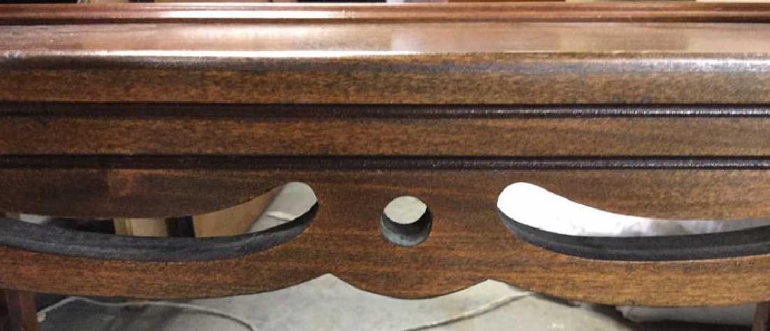 Vintage Wood Walnut Coffee Table - 3