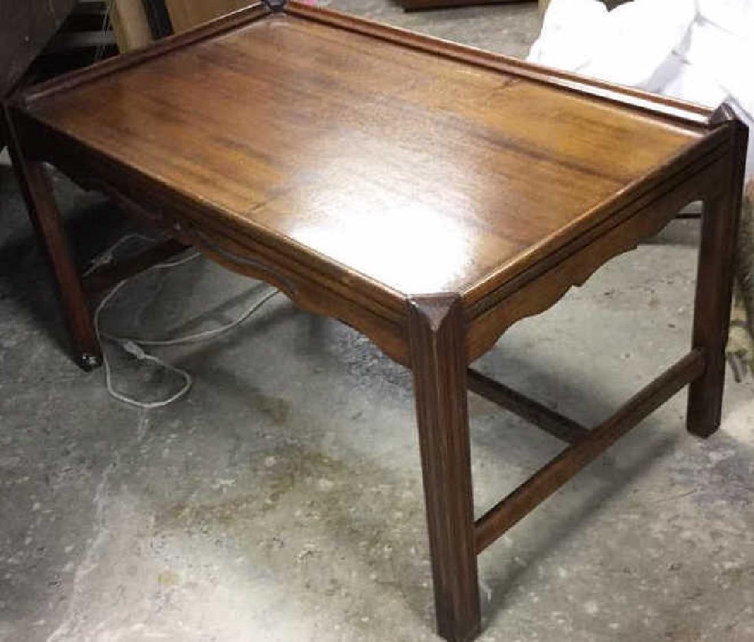 Vintage Wood Walnut Coffee Table - 4
