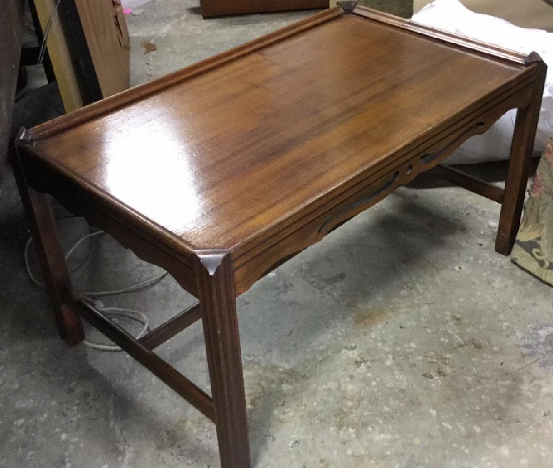 Vintage Wood Walnut Coffee Table - 5