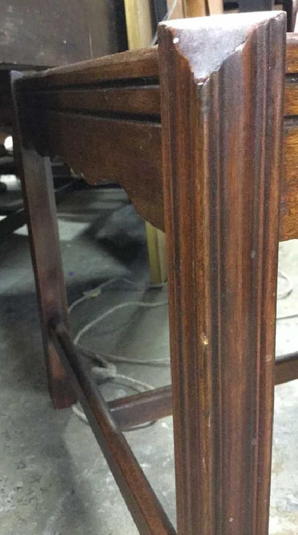 Vintage Wood Walnut Coffee Table - 7
