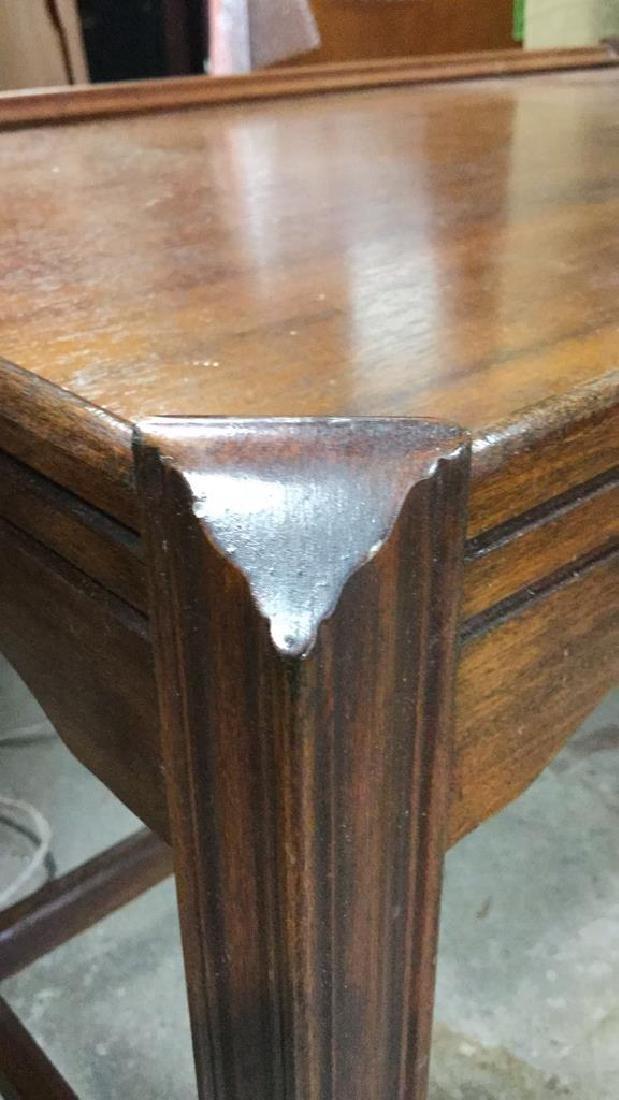 Vintage Wood Walnut Coffee Table - 8