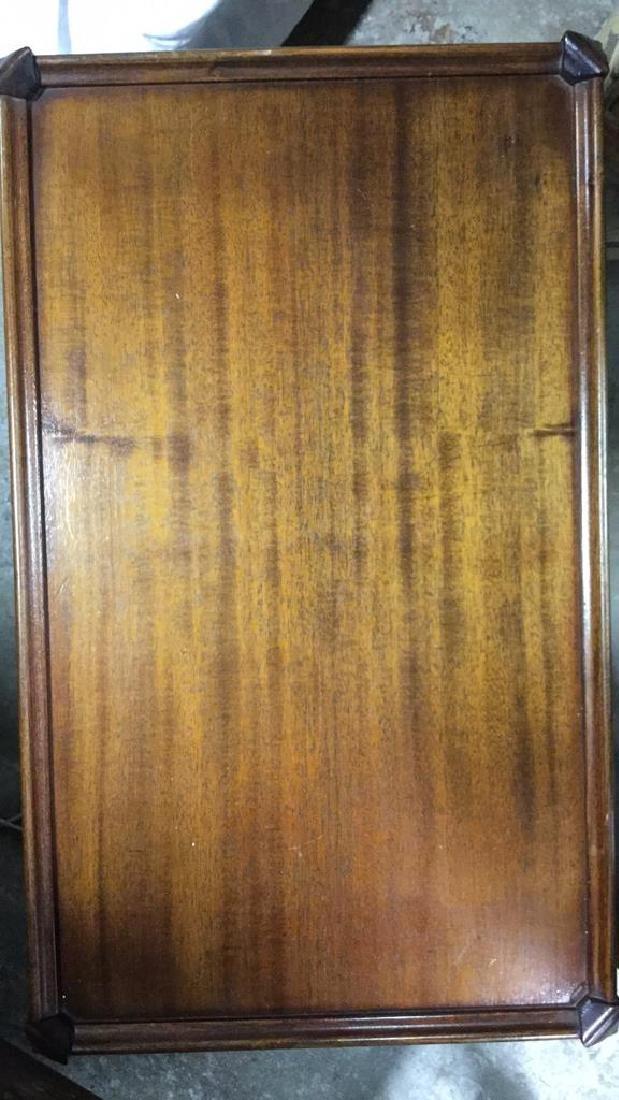 Vintage Wood Walnut Coffee Table - 9