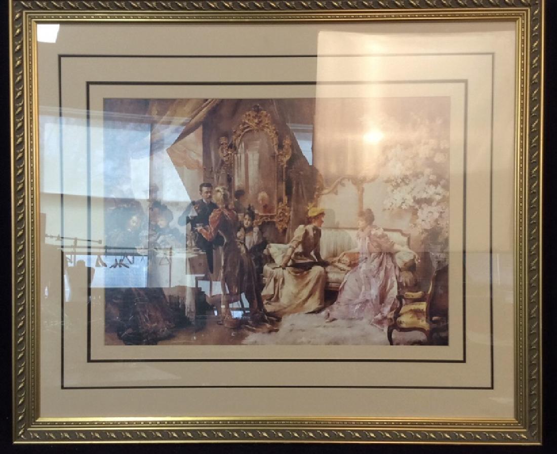 Art Print  Victorian Era Gathering