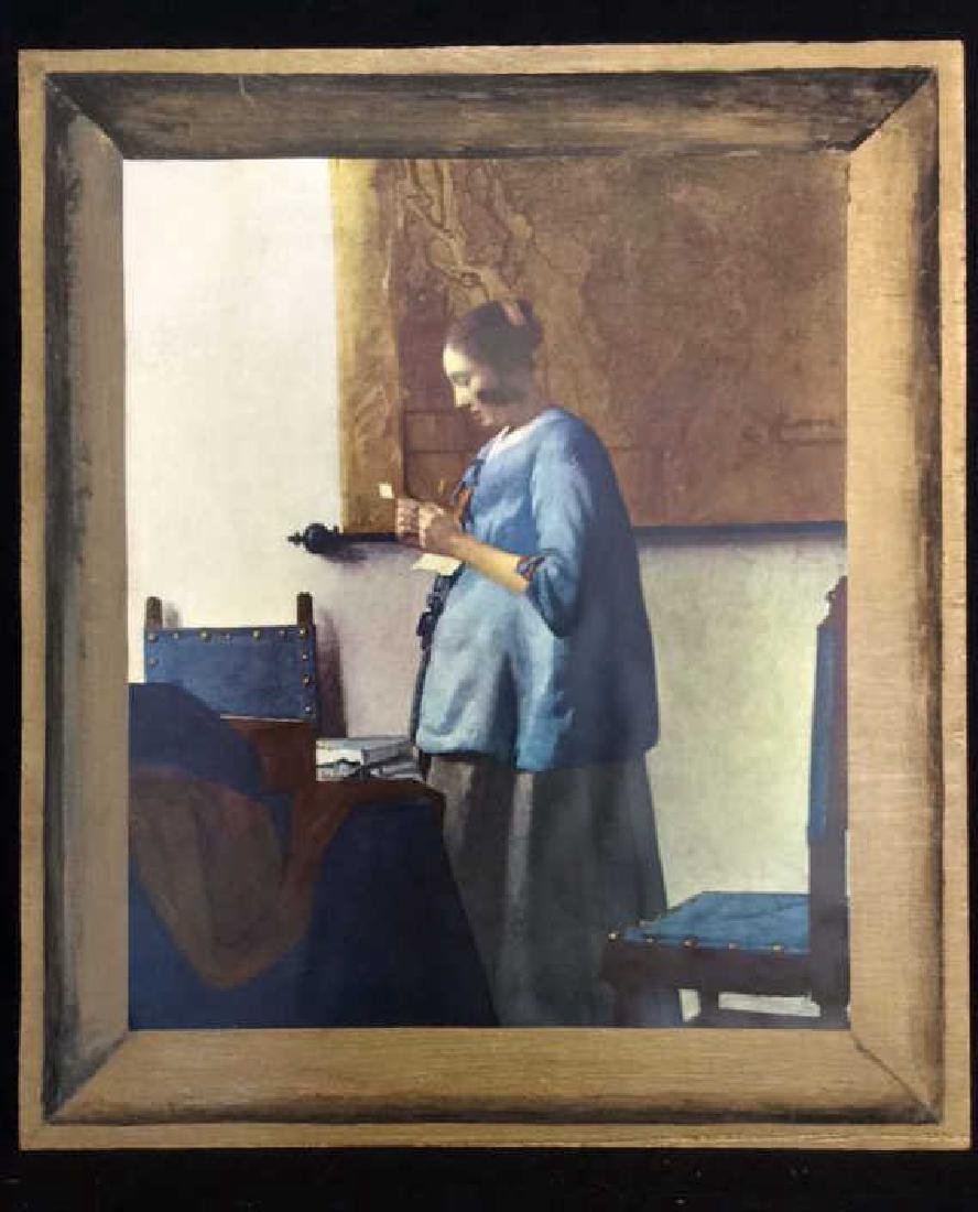 Art Print Johannes Vermeer Woman in Blue Reading