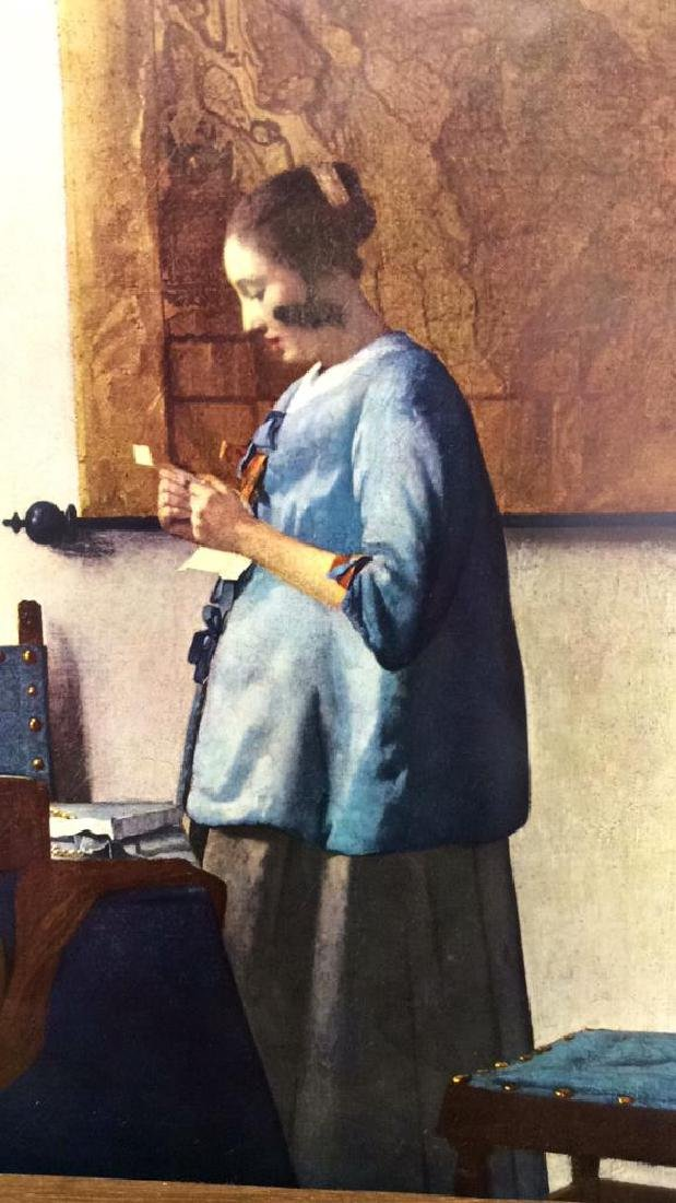Art Print Johannes Vermeer Woman in Blue Reading - 2