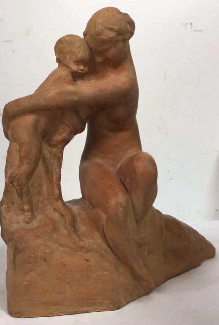 Ceramic Female Nude & Child Sculpture