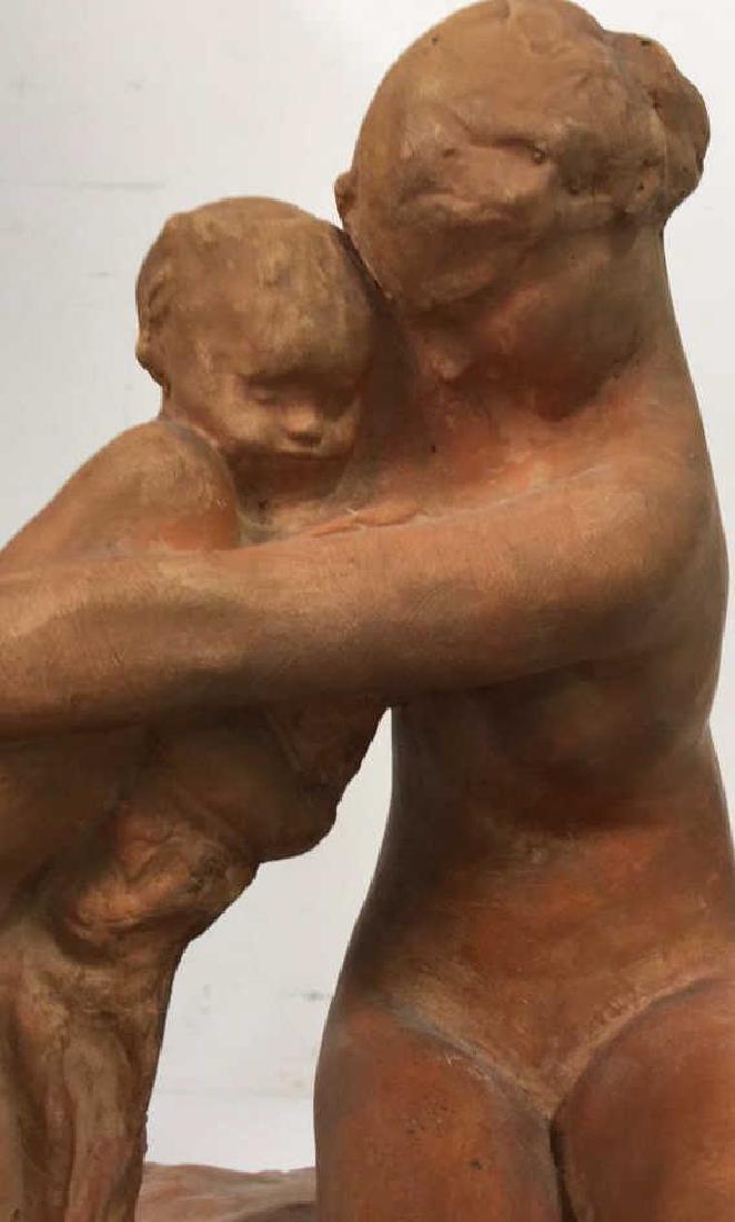 Ceramic Female Nude & Child Sculpture - 2
