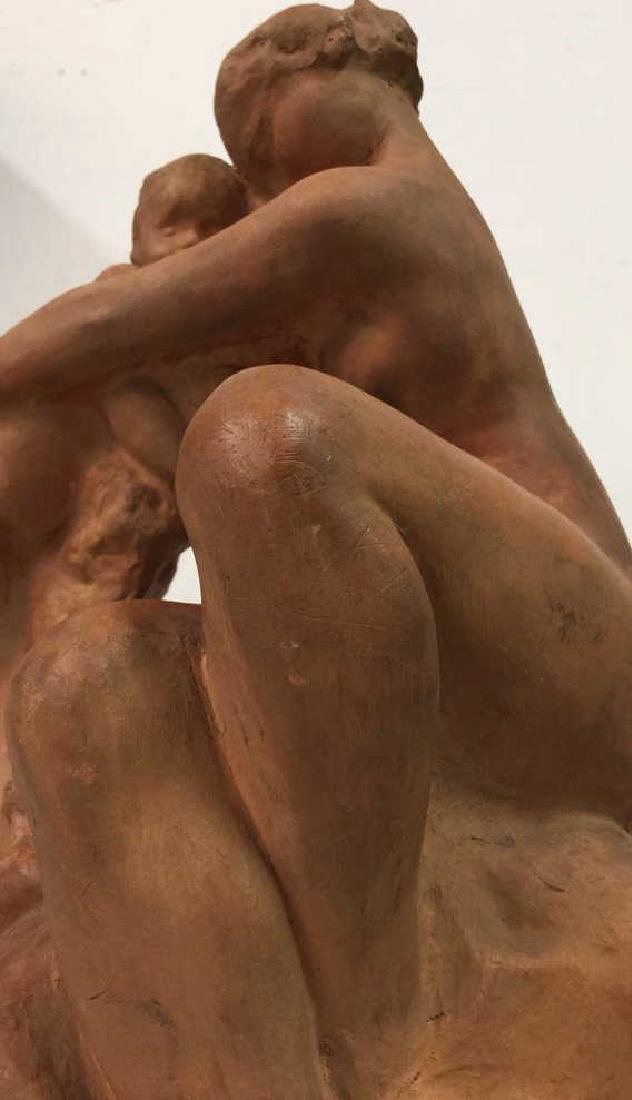 Ceramic Female Nude & Child Sculpture - 3