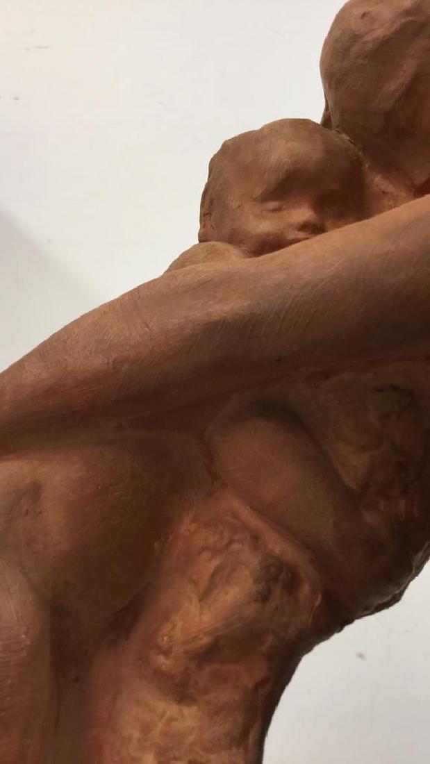 Ceramic Female Nude & Child Sculpture - 4