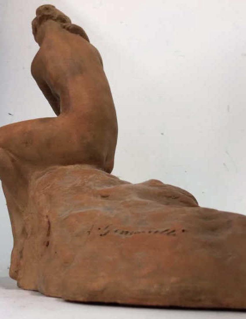 Ceramic Female Nude & Child Sculpture - 6