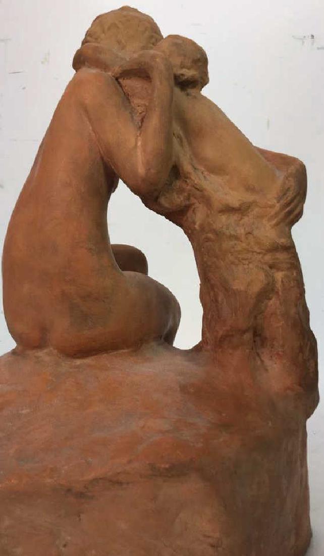 Ceramic Female Nude & Child Sculpture - 7