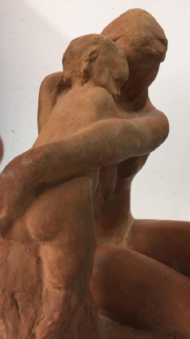 Ceramic Female Nude & Child Sculpture - 8