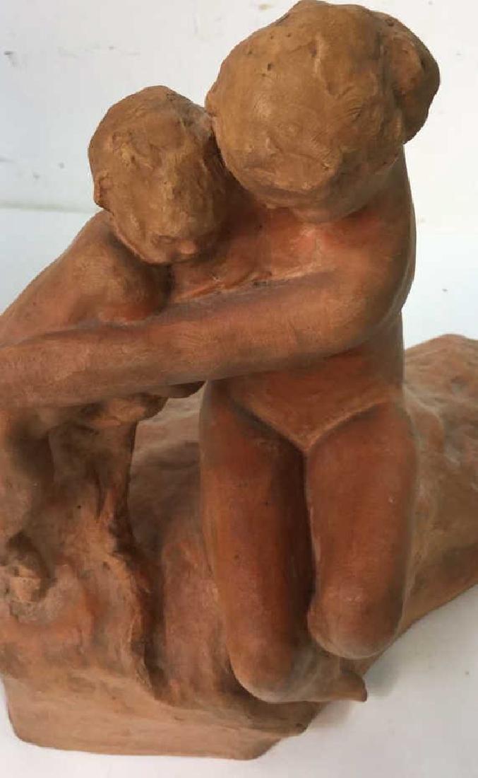 Ceramic Female Nude & Child Sculpture - 9