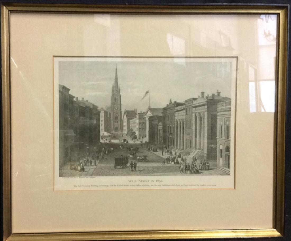 Art Print Wall Street in 1850