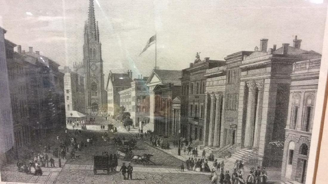 Art Print Wall Street in 1850 - 2