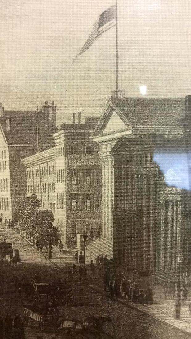 Art Print Wall Street in 1850 - 3