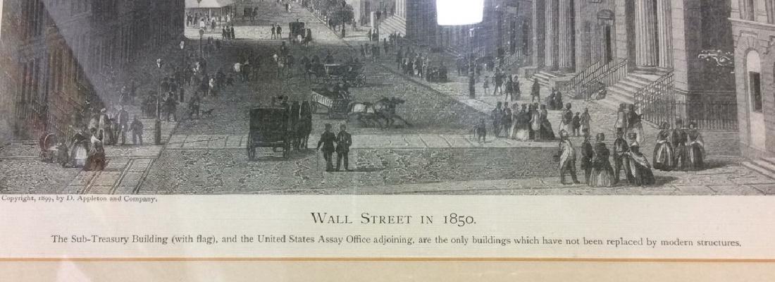 Art Print Wall Street in 1850 - 5