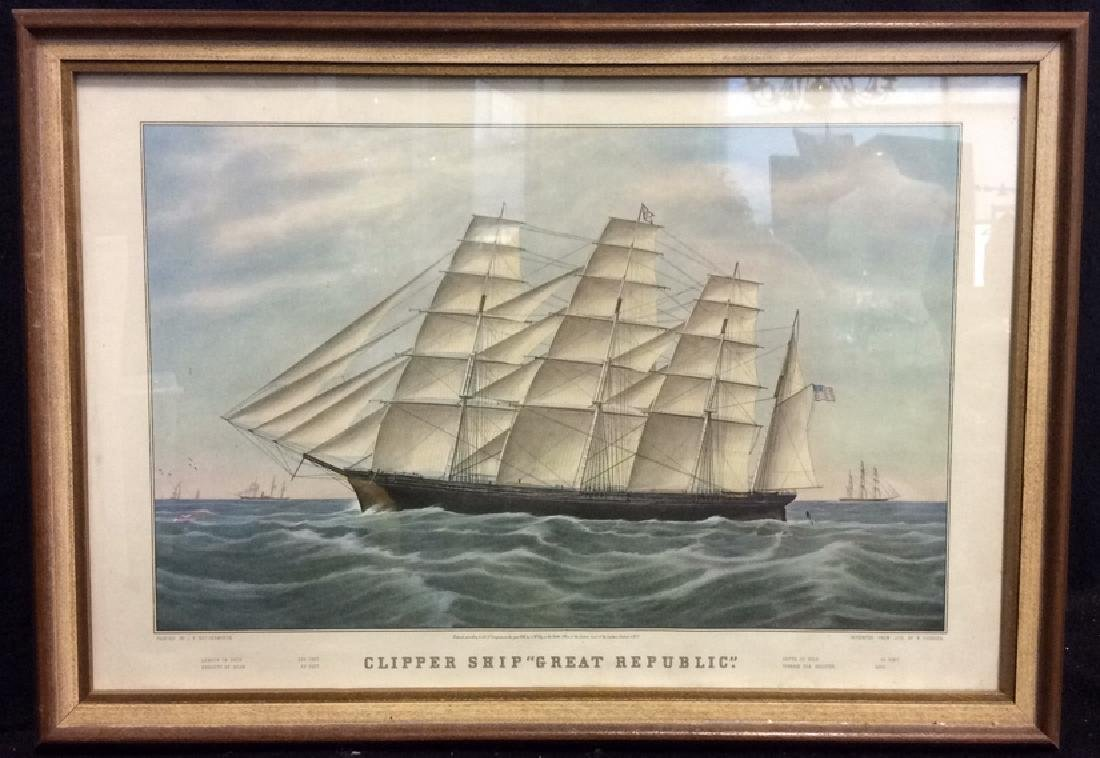"Art Print Clipper Ship ""Great Republic."""