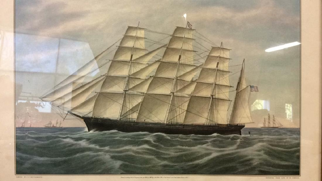 "Art Print Clipper Ship ""Great Republic."" - 2"