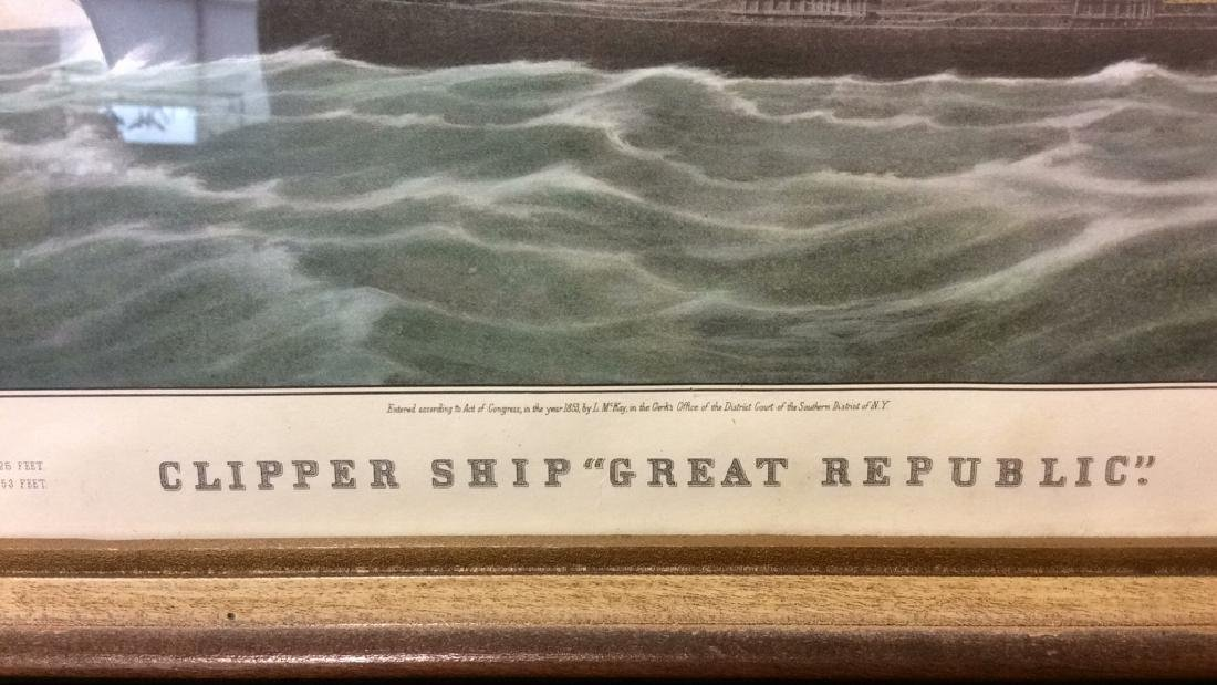 "Art Print Clipper Ship ""Great Republic."" - 3"