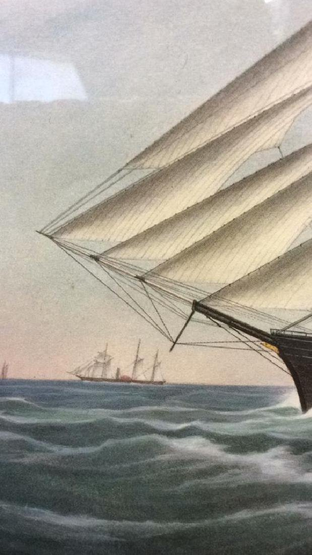 "Art Print Clipper Ship ""Great Republic."" - 6"
