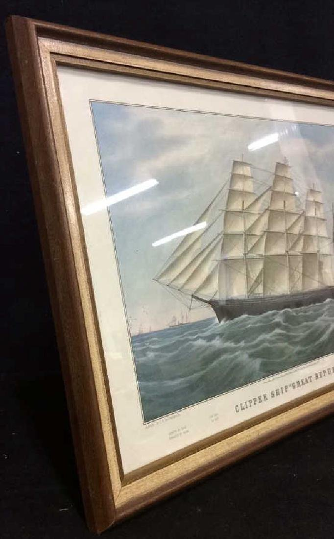 "Art Print Clipper Ship ""Great Republic."" - 7"