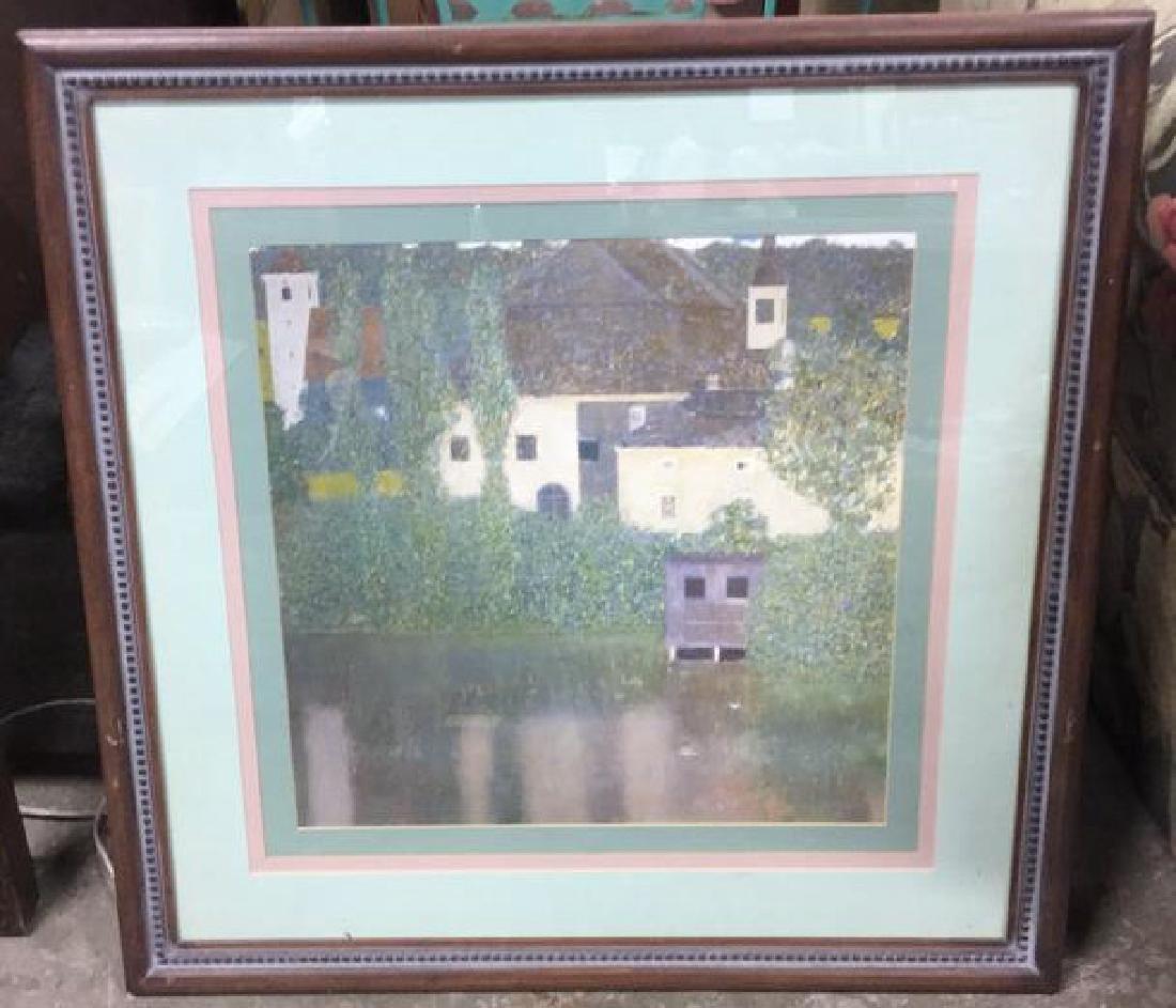 Framed Klimt Art Print Castle
