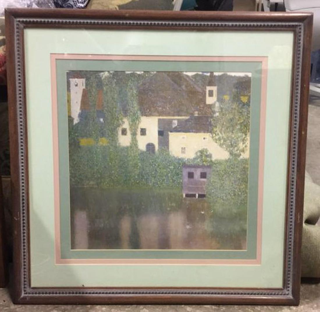 Framed Klimt Art Print Castle - 2